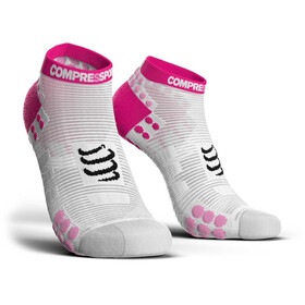 Compressport Pro Racing V3.0 Run Low Calze da corsa Donna rosa/bianco